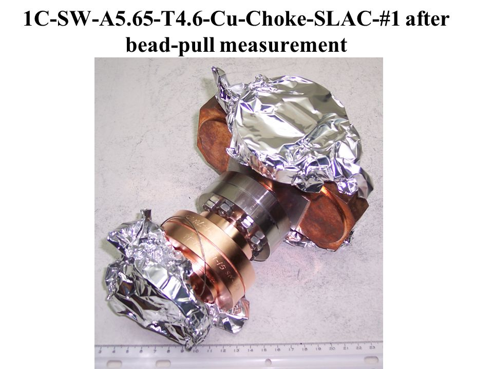 1C-SW-A5.65-T4.6-Cu-Choke-SLAC-#1 after bead-pull measurement