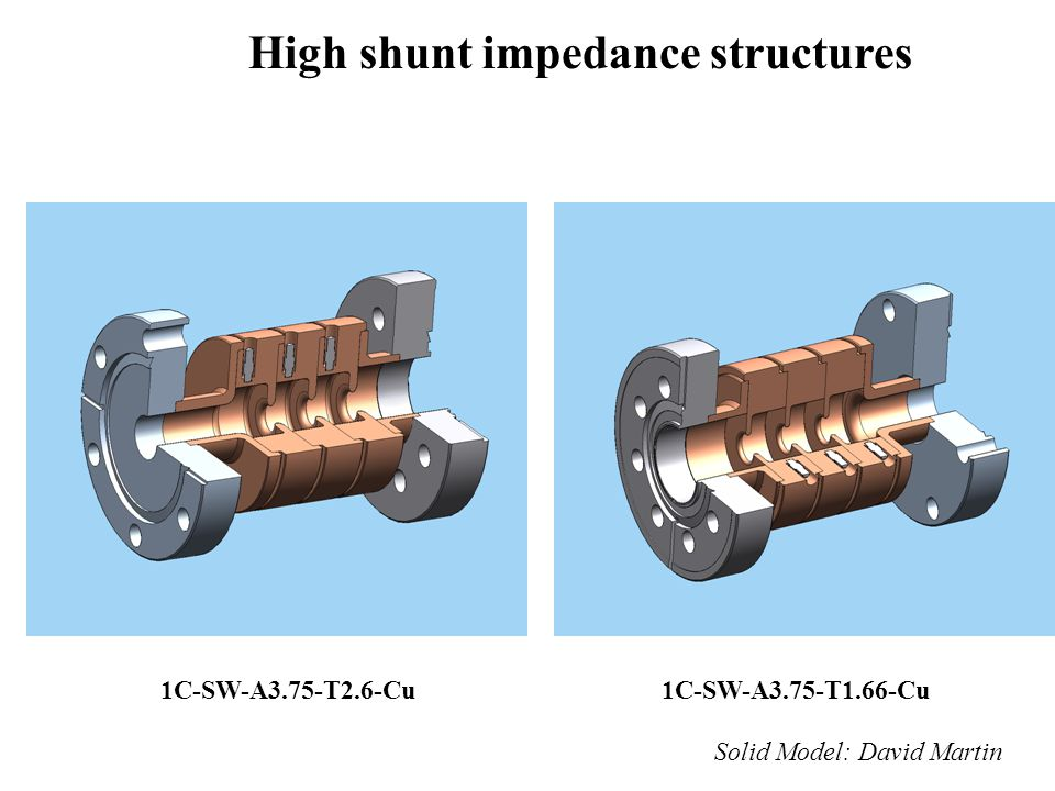 High shunt impedance structures