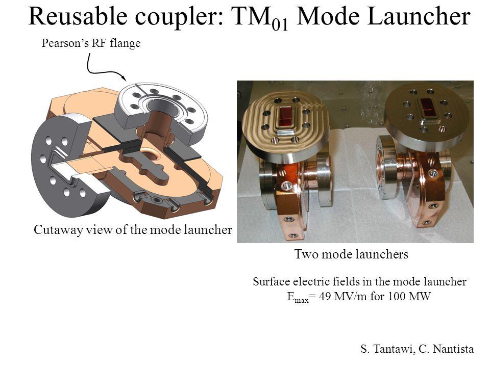 Reusable coupler: TM01 Mode Launcher
