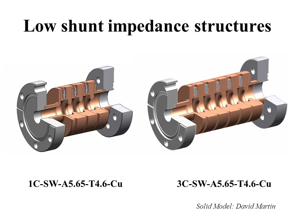 Low shunt impedance structures