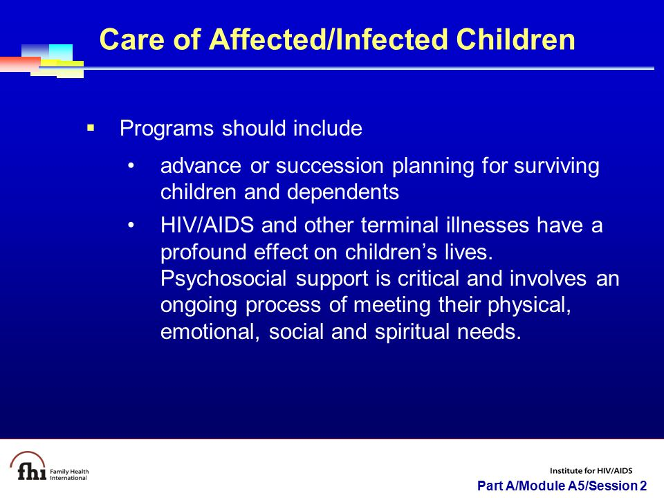 Care of Affected/Infected Children