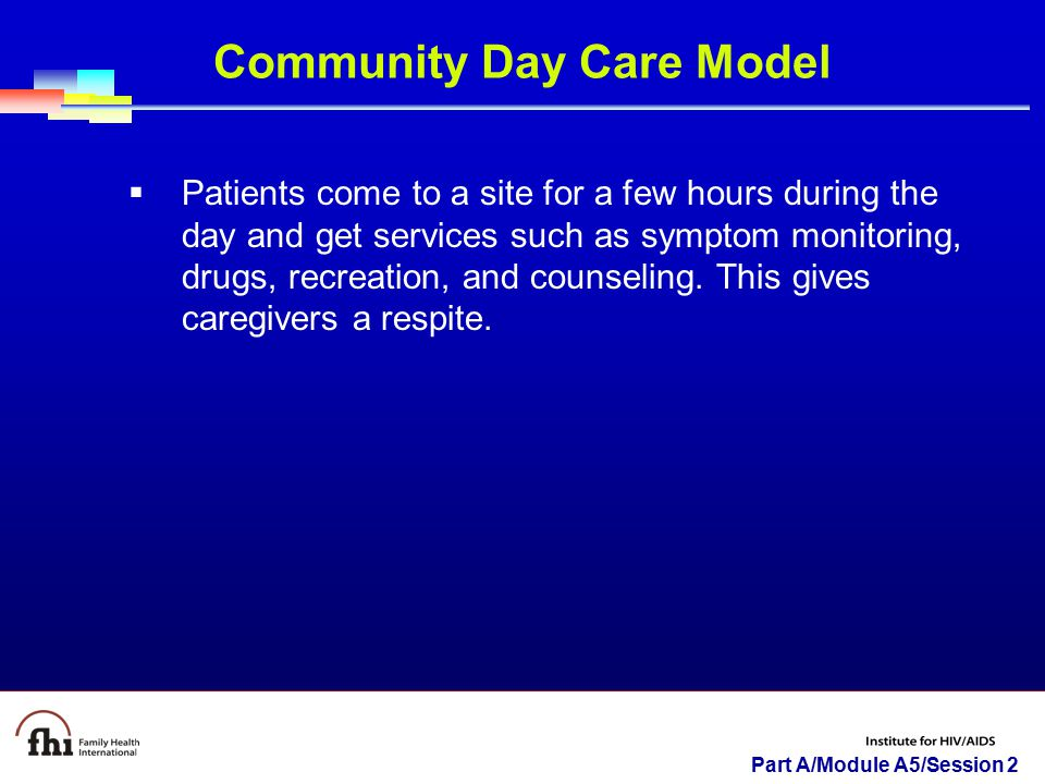 Community Day Care Model