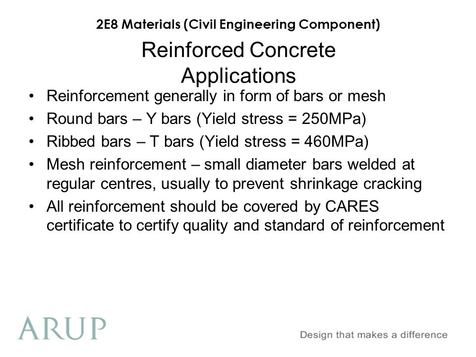 Reinforced Concrete Applications
