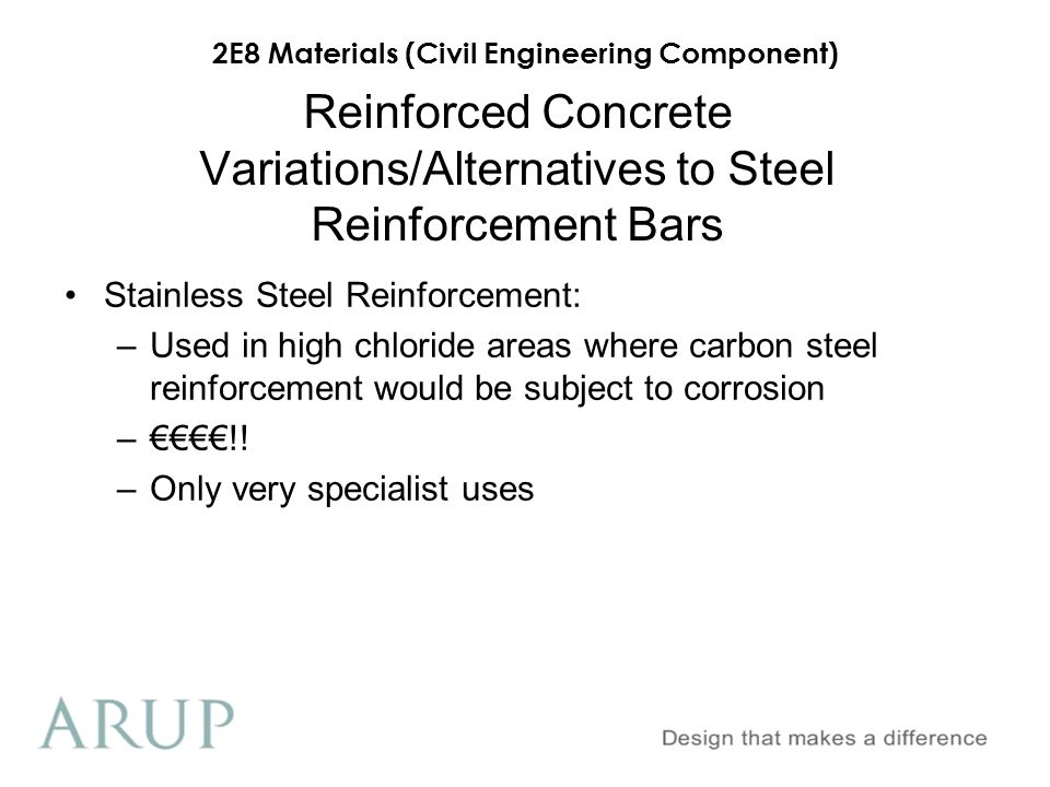 Reinforced Concrete Variations/Alternatives to Steel Reinforcement Bars