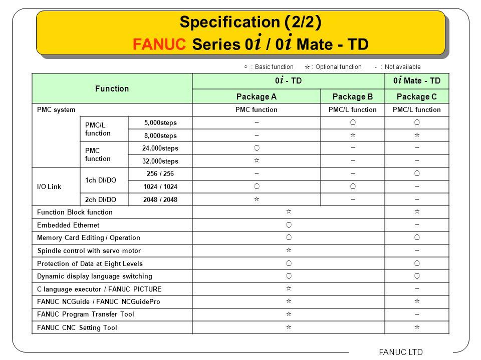FANUC Series 0i / 0i Mate - TD