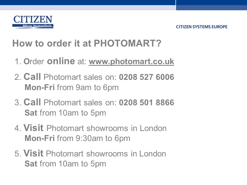 How to order it at PHOTOMART