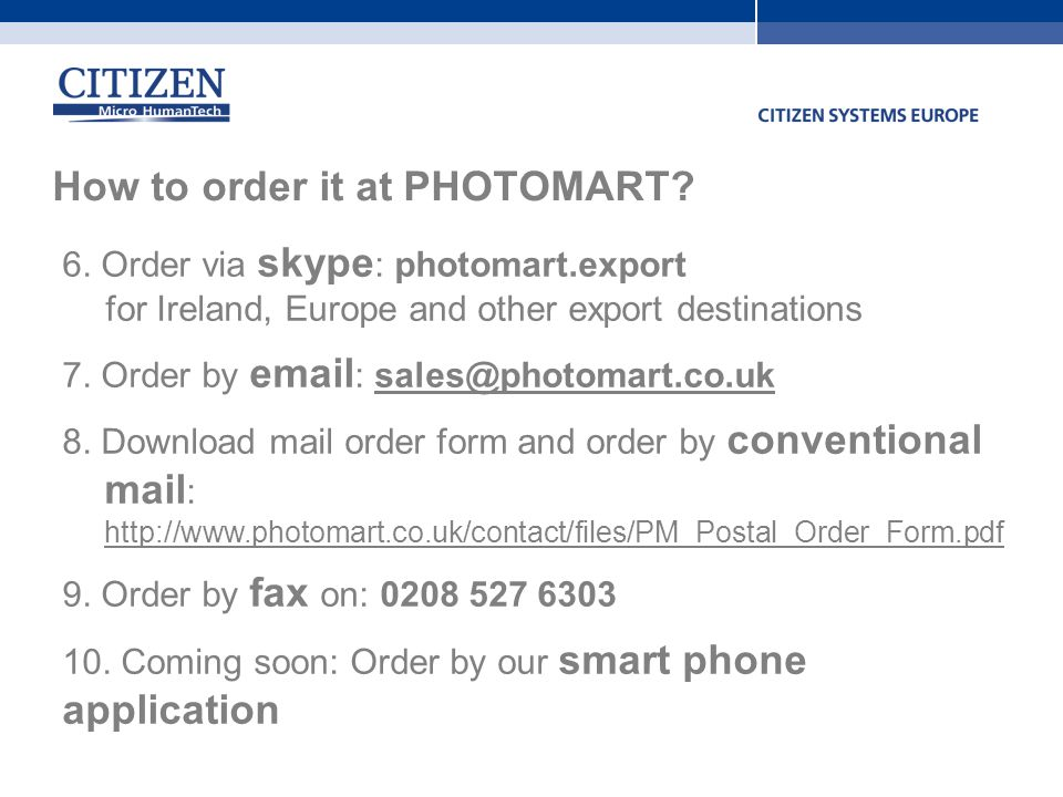 Citizen Cy DyeSub Photo Printer  Ppt Video Online Download