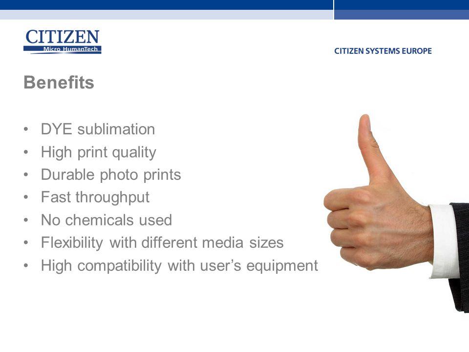 Benefits DYE sublimation High print quality Durable photo prints