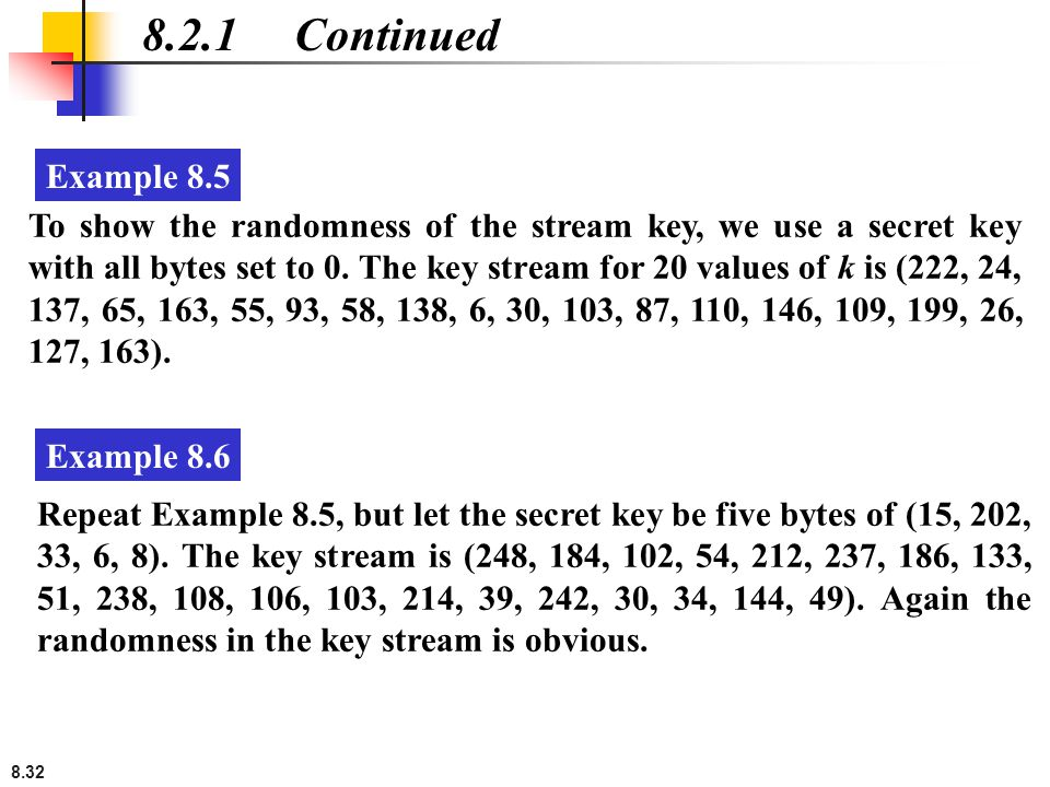 8.2.1 Continued Example 8.5.