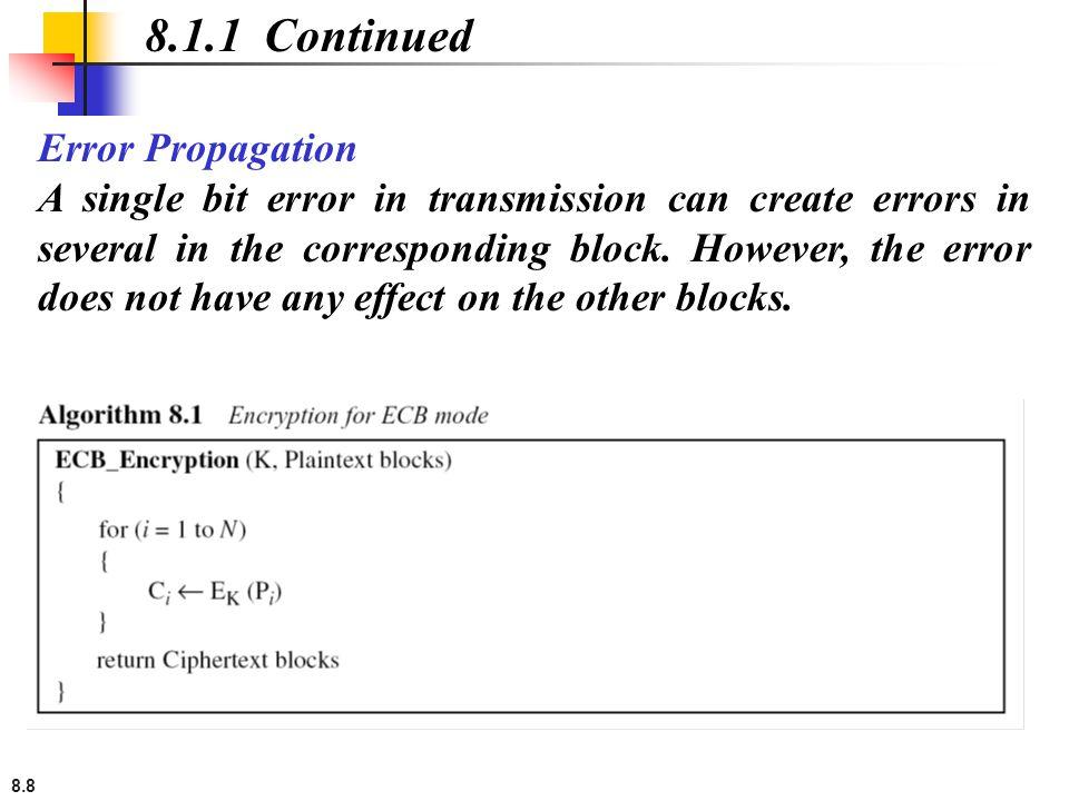 8.1.1 Continued Error Propagation
