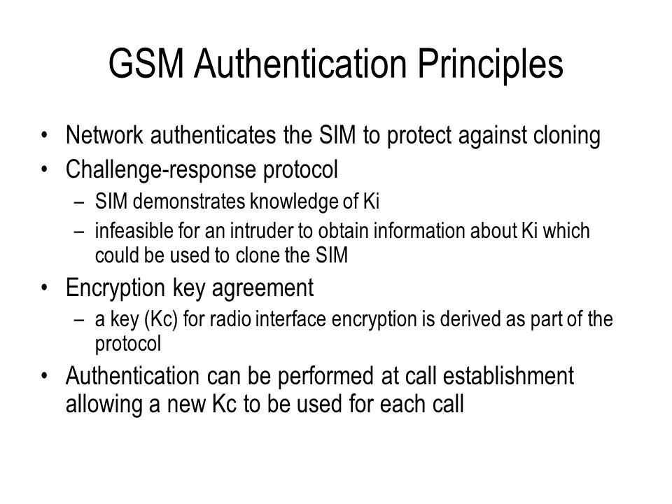 GSM Authentication Principles