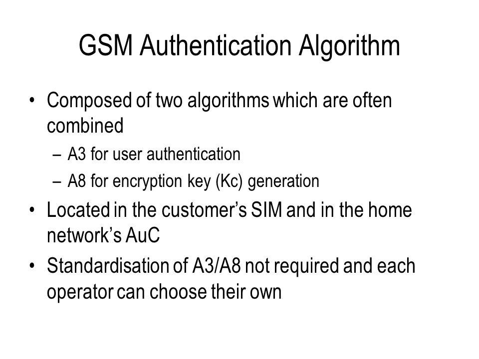 GSM Authentication Algorithm
