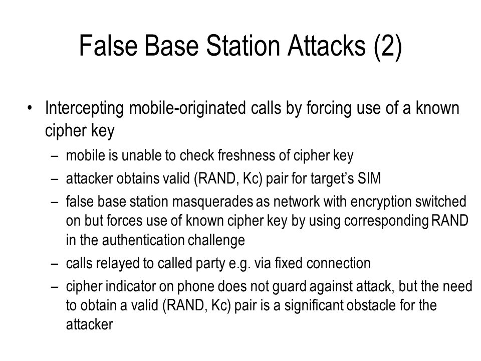 False Base Station Attacks (2)