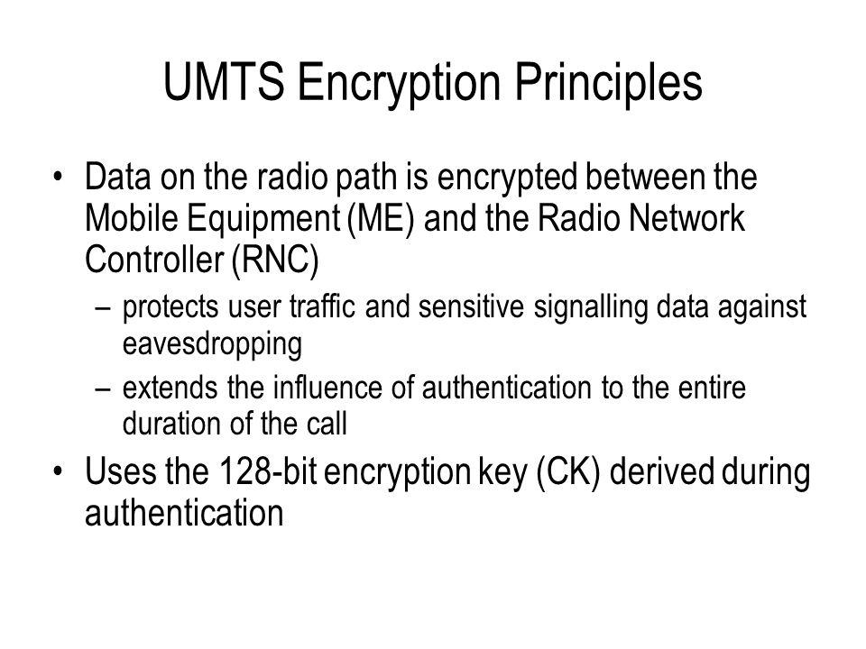 UMTS Encryption Principles