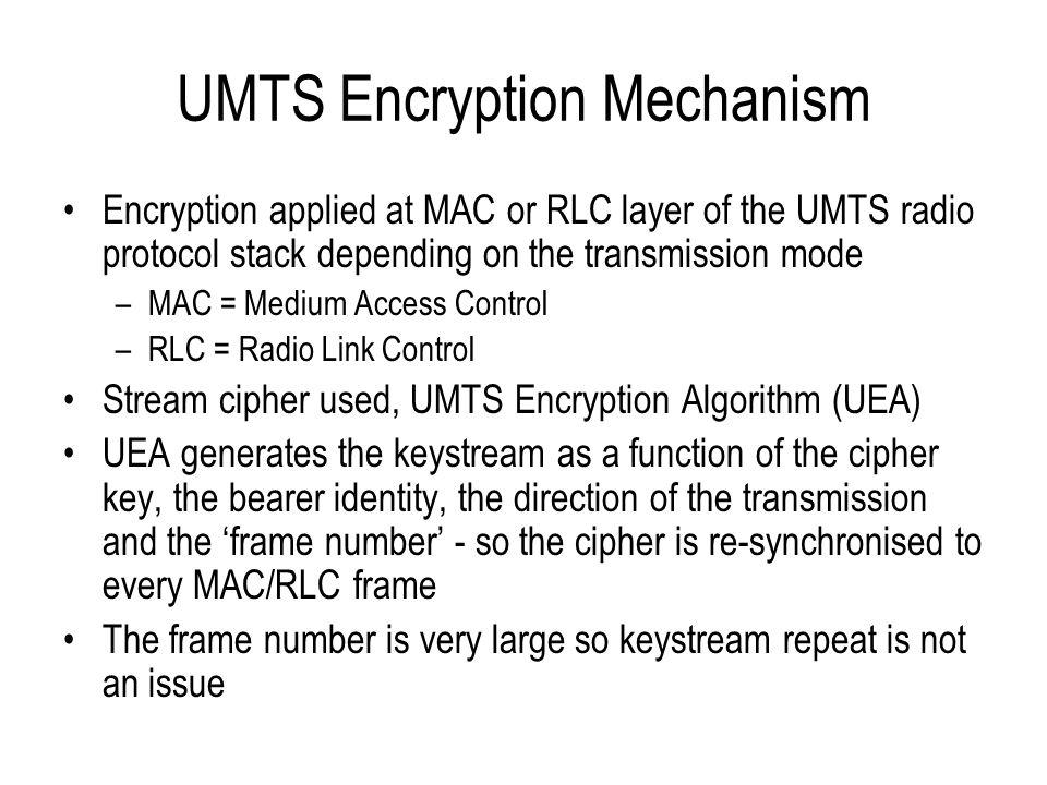 UMTS Encryption Mechanism