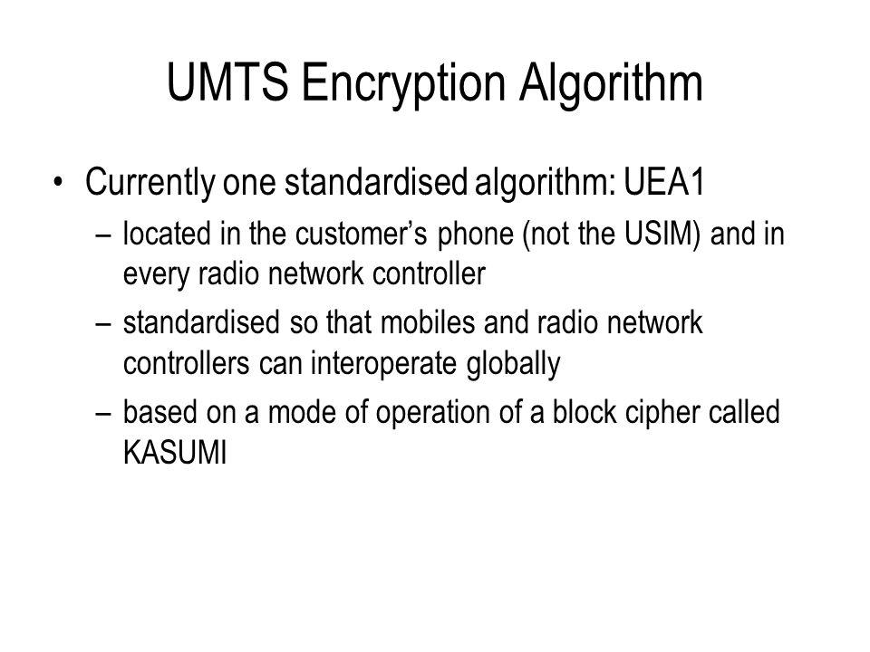 UMTS Encryption Algorithm