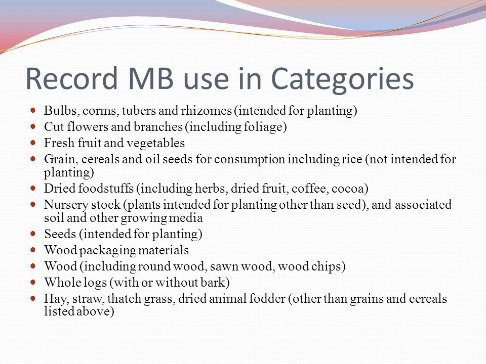 Record MB use in Categories