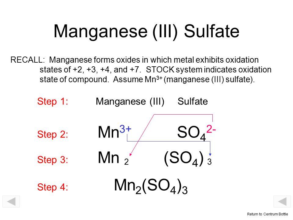 Manganese (III) Sulfate