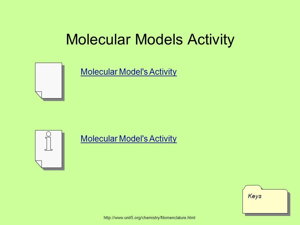 Molecular Models Activity