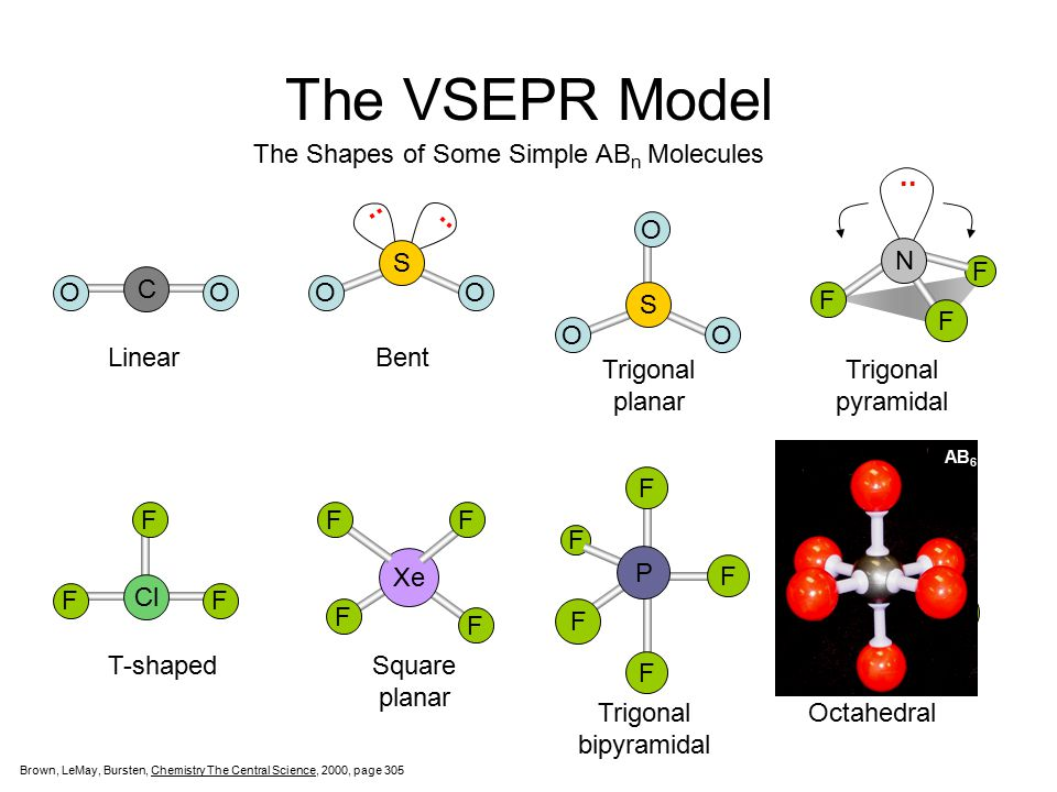 The VSEPR Model .. .. .. The Shapes of Some Simple ABn Molecules O S O