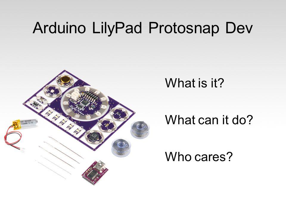 Arduino LilyPad Protosnap Dev