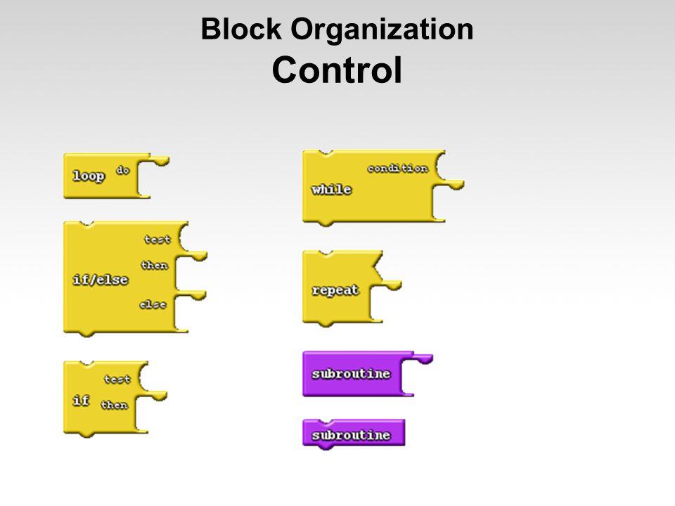 Block Organization Control