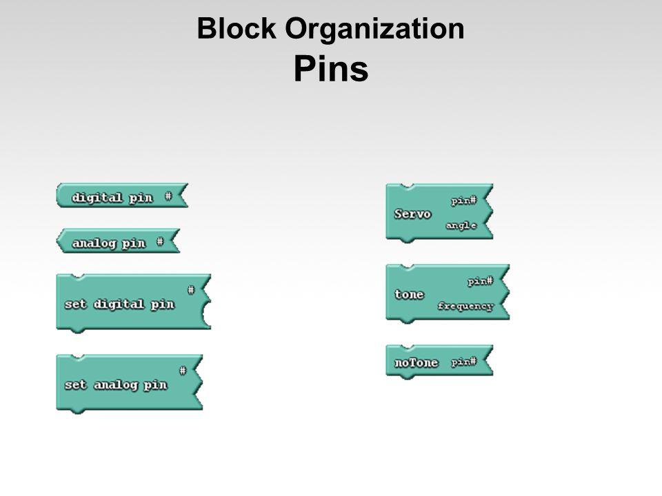 Block Organization Pins