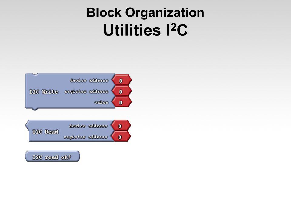 Block Organization Utilities I2C