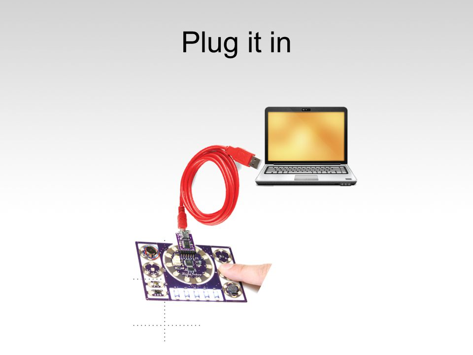 Plug it in Plug it in. FTDI is Serial buffer, 5V, GND, reset.