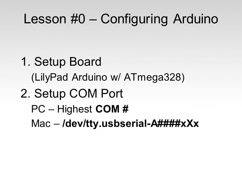 Lesson #0 – Configuring Arduino