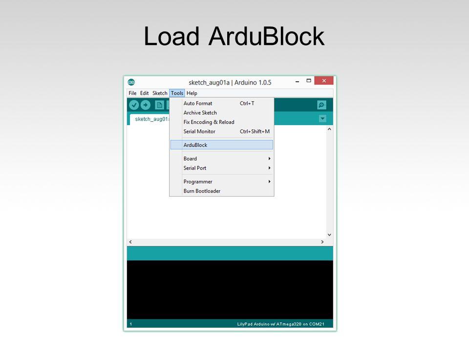 Load ArduBlock