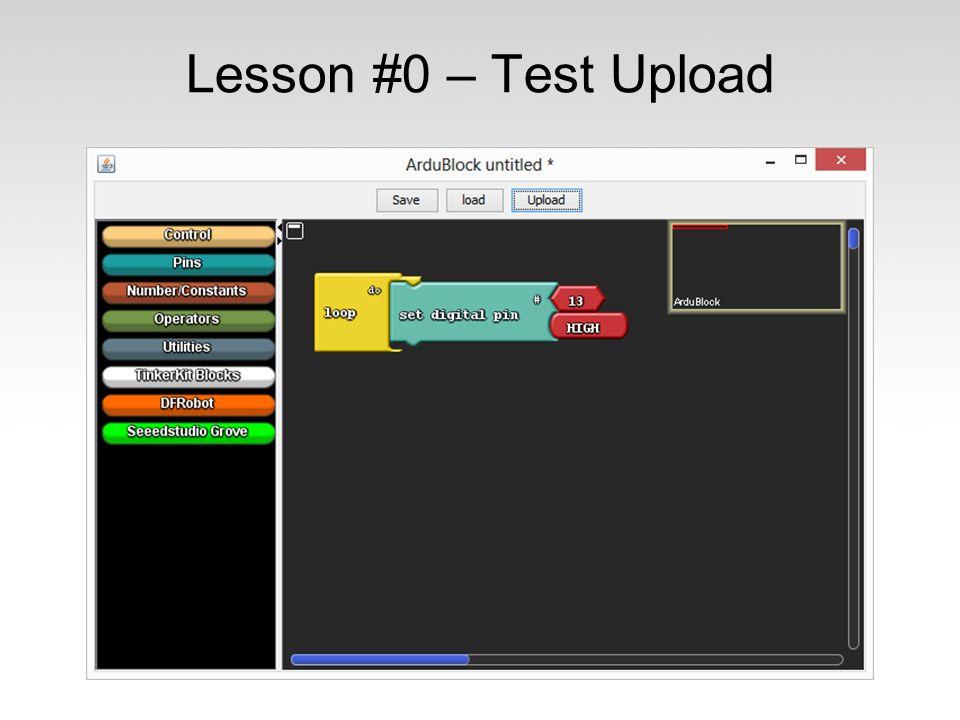Lesson #0 – Test Upload