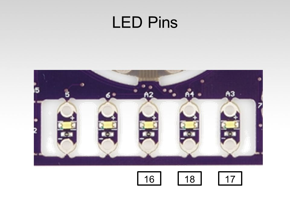 LED Pins 16 18 17
