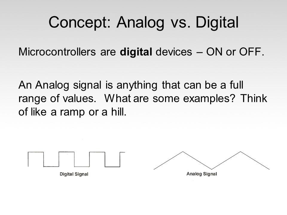 Concept: Analog vs. Digital