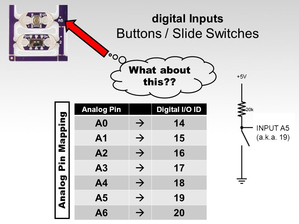 digital Inputs Buttons / Slide Switches