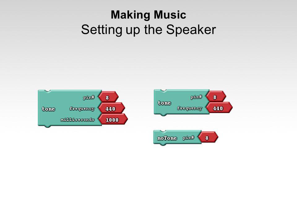 Making Music Setting up the Speaker