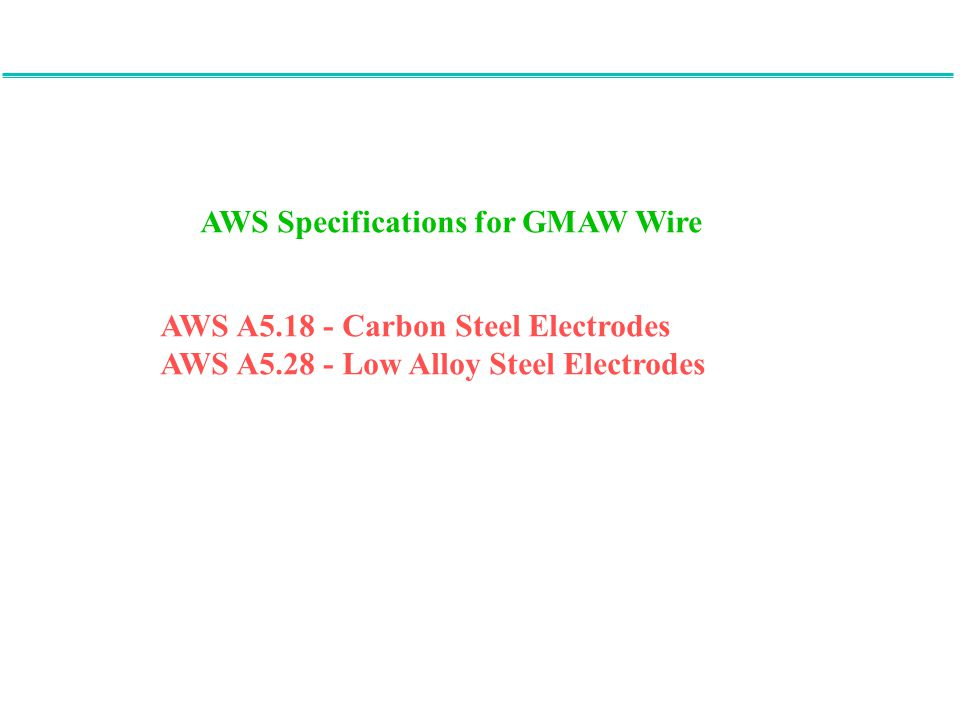 AWS Specifications for GMAW Wire
