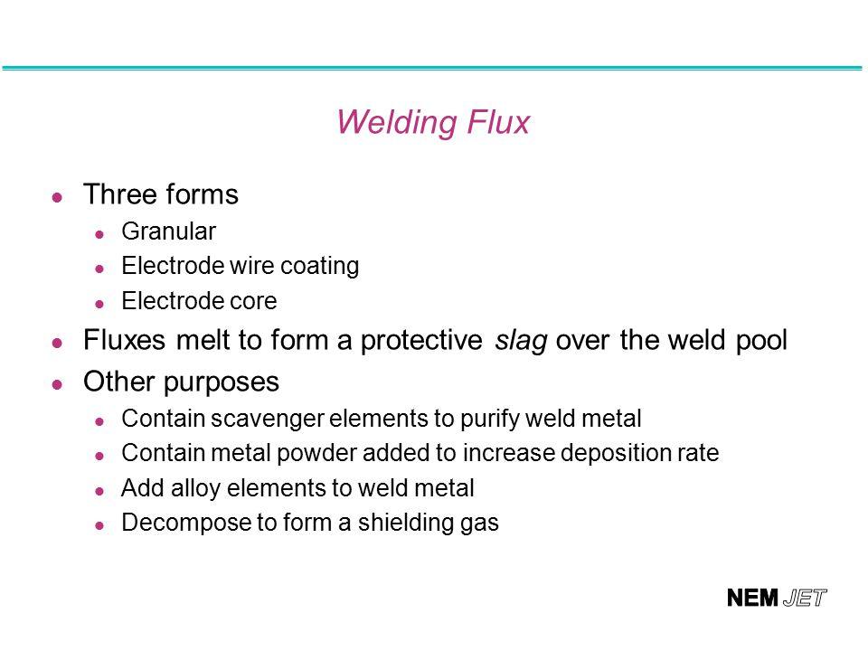 Welding Flux Three forms