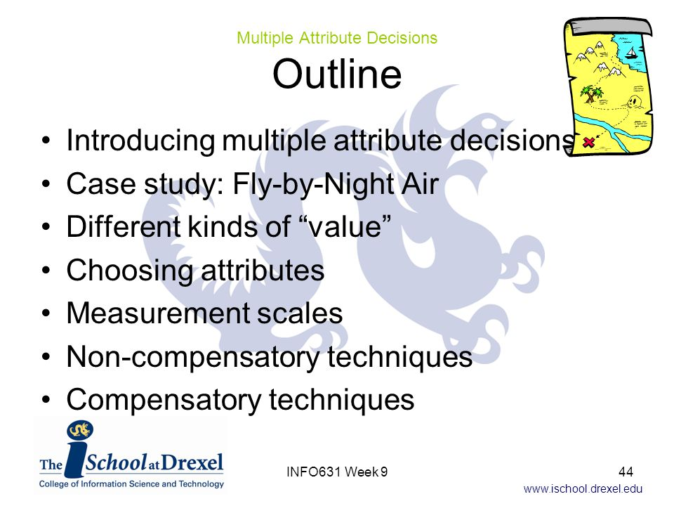 Multiple Attribute Decisions Outline
