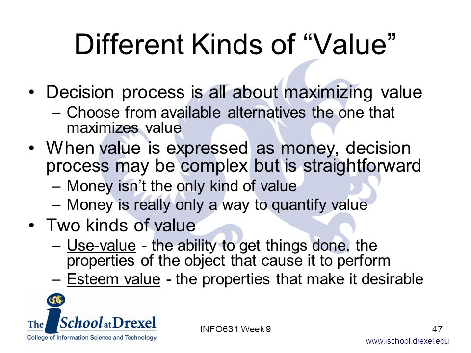 Different Kinds of Value
