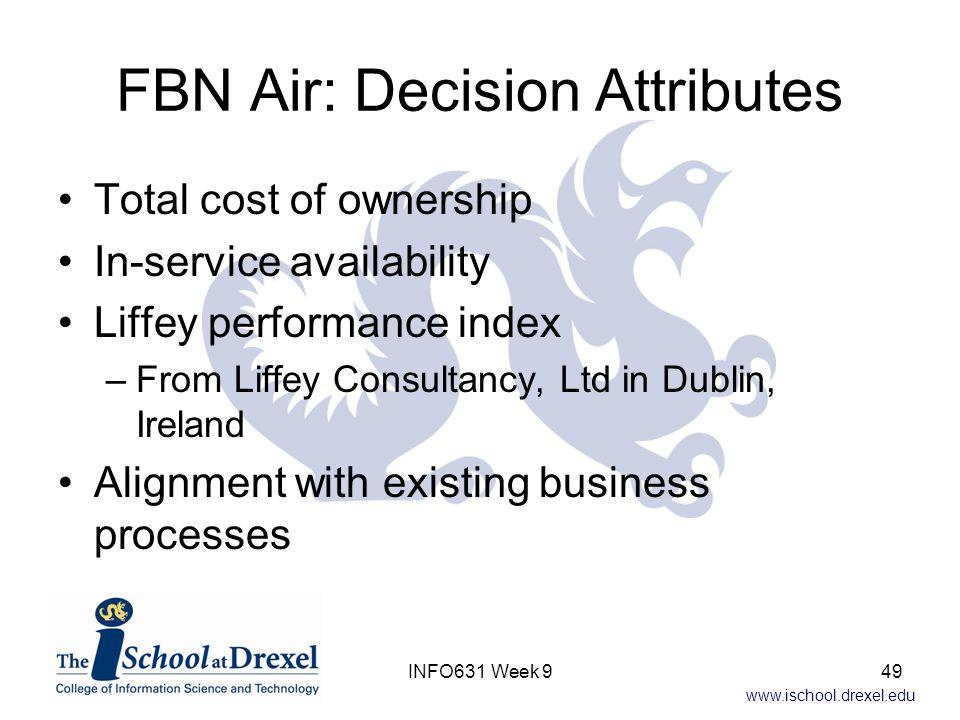 FBN Air: Decision Attributes