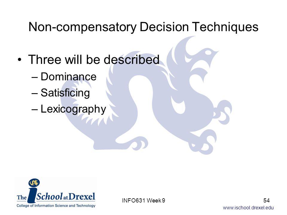 Non-compensatory Decision Techniques
