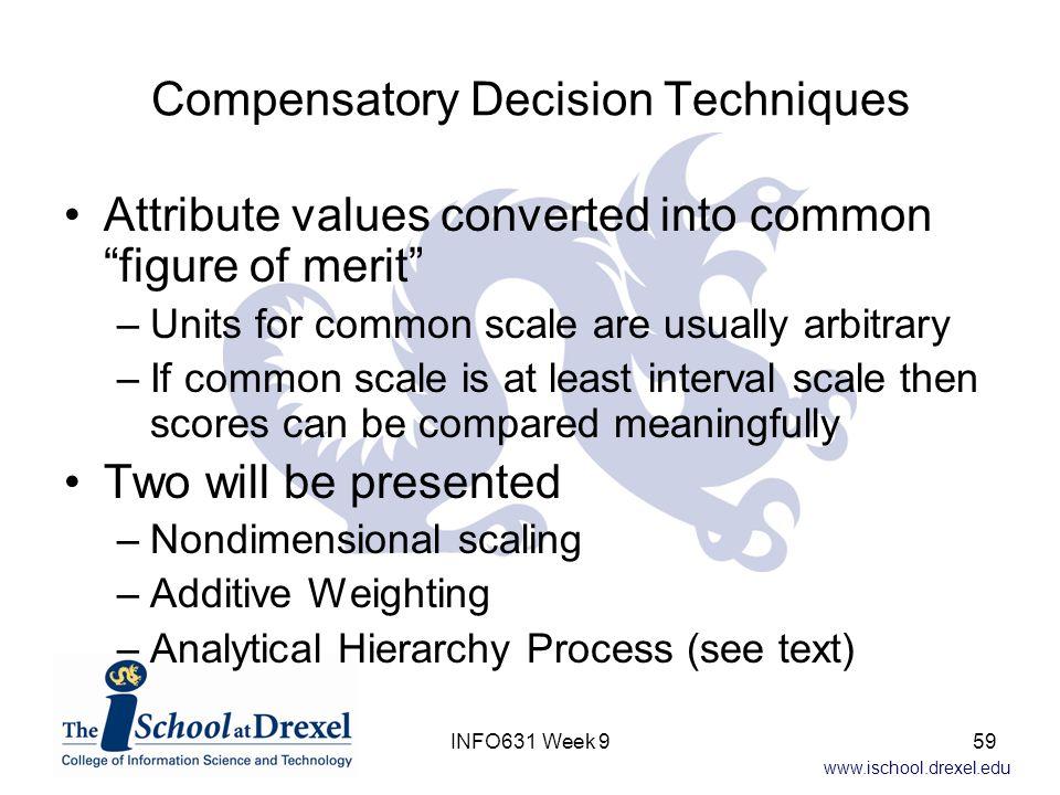 Compensatory Decision Techniques