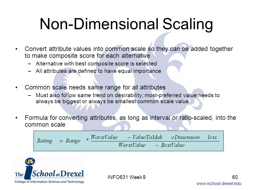 Non-Dimensional Scaling
