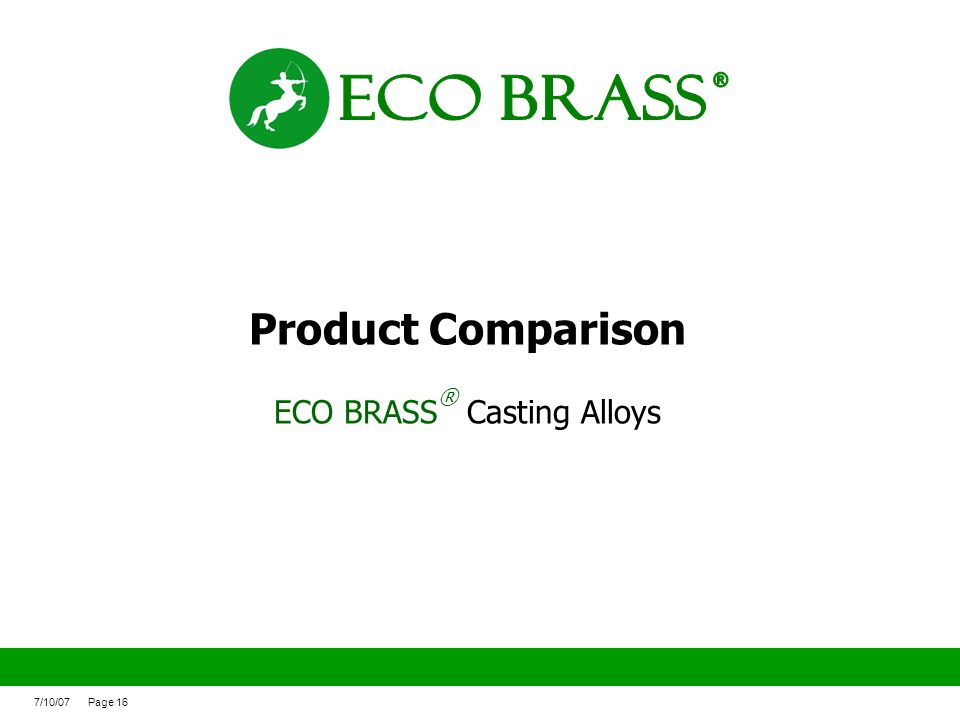 ECO BRASS® Casting Alloys