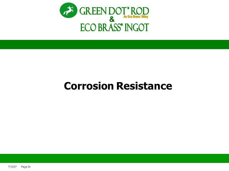 ECO BRASS Ingot ® Green Dot ROd Corrosion Resistance &