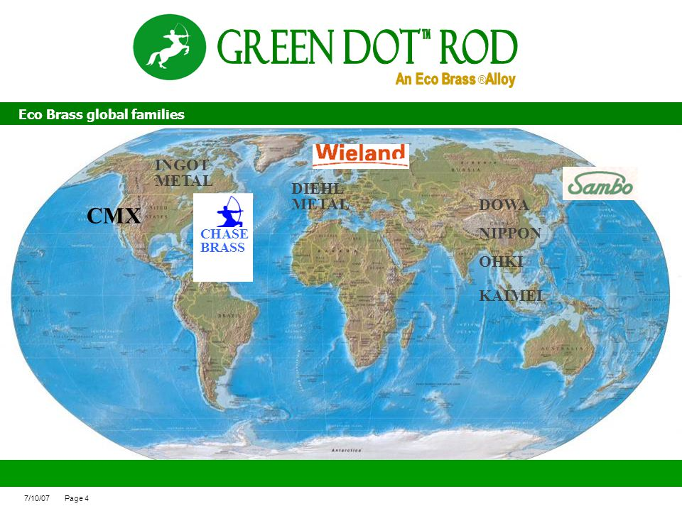 Green Dot ROd CMX INGOT DIEHL METAL DOWA NIPPON OHKI KAIMEI