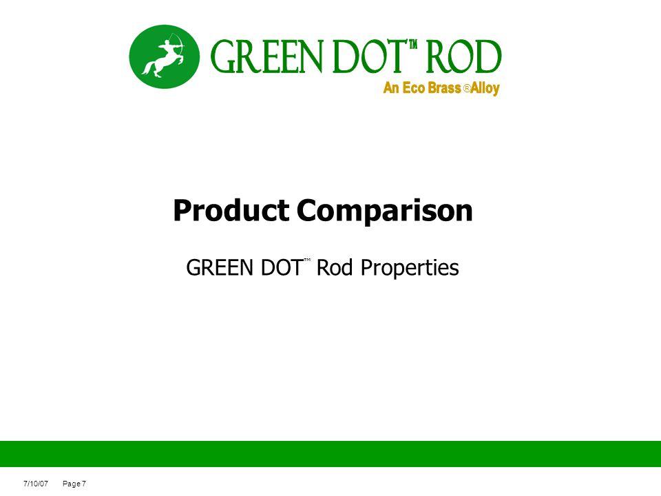 GREEN DOT™ Rod Properties