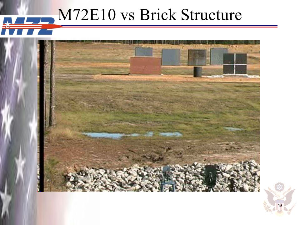 M72E10 vs Brick Structure 16