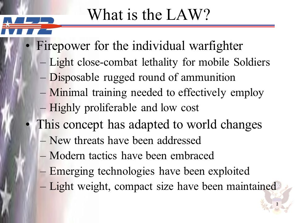 What is the LAW Firepower for the individual warfighter